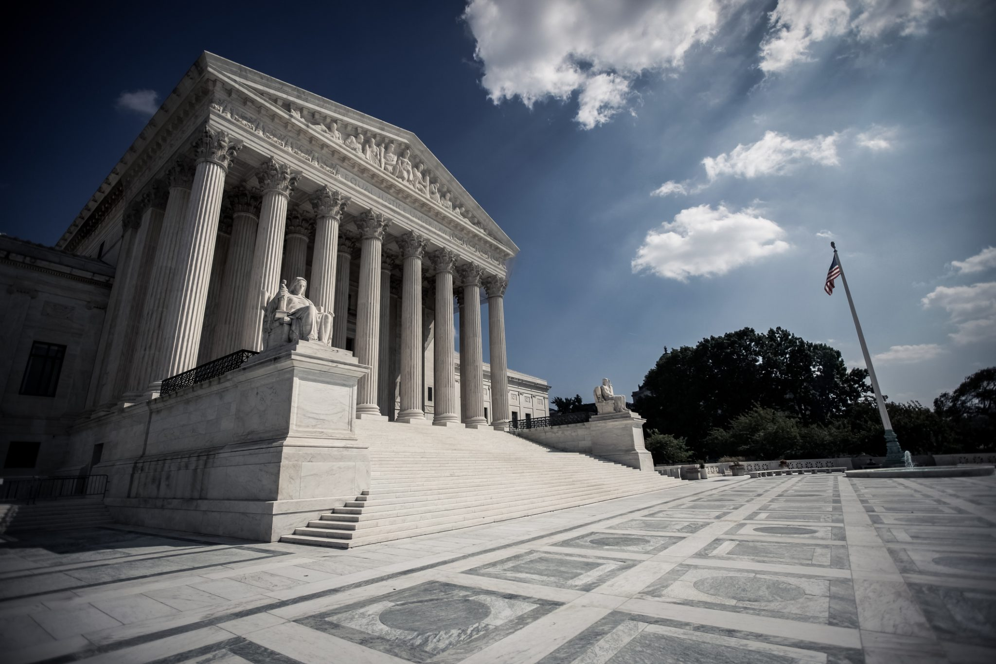 Supreme Court With Dramatic Skies