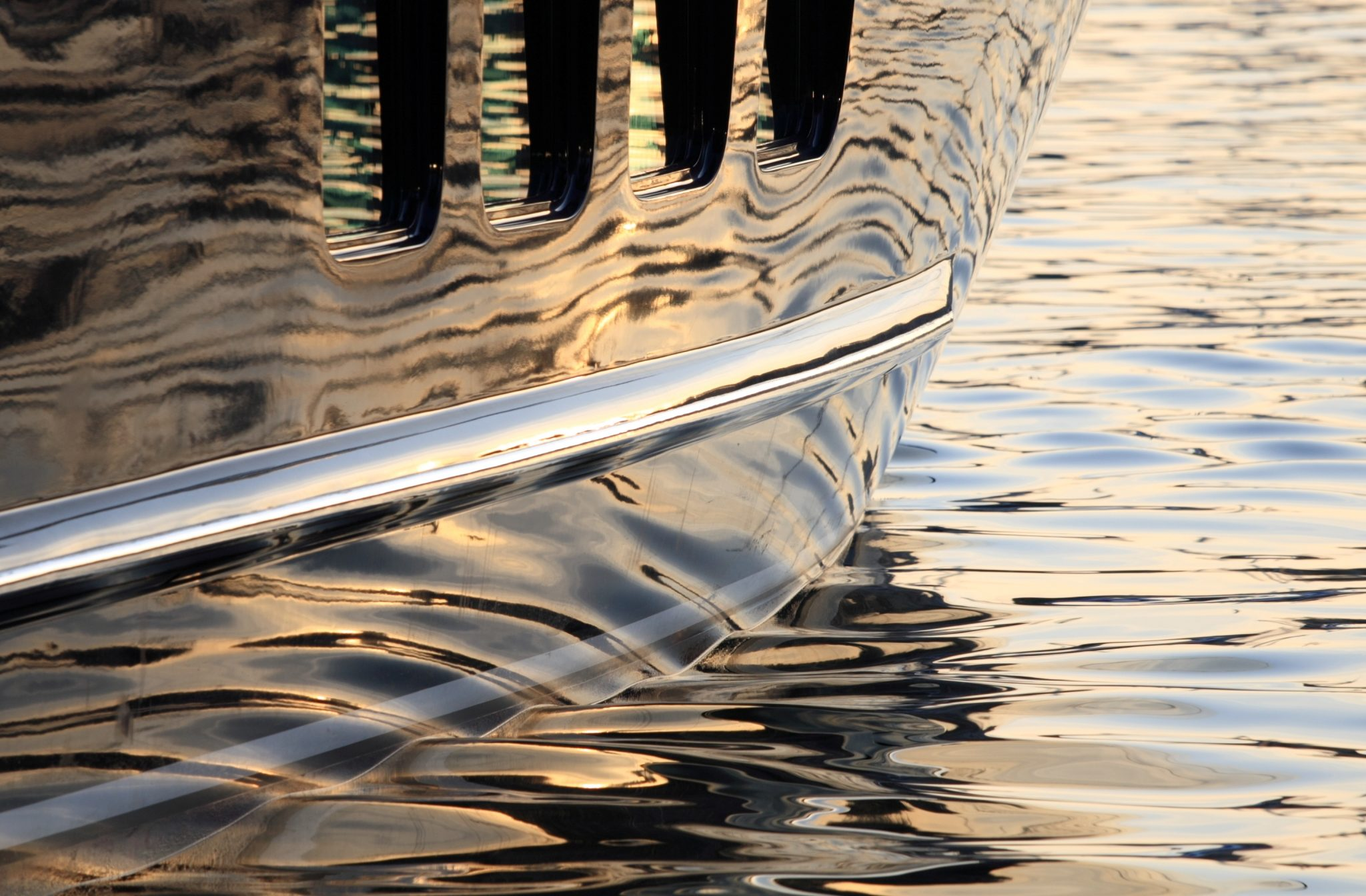 Super Yacht Hull Reflections