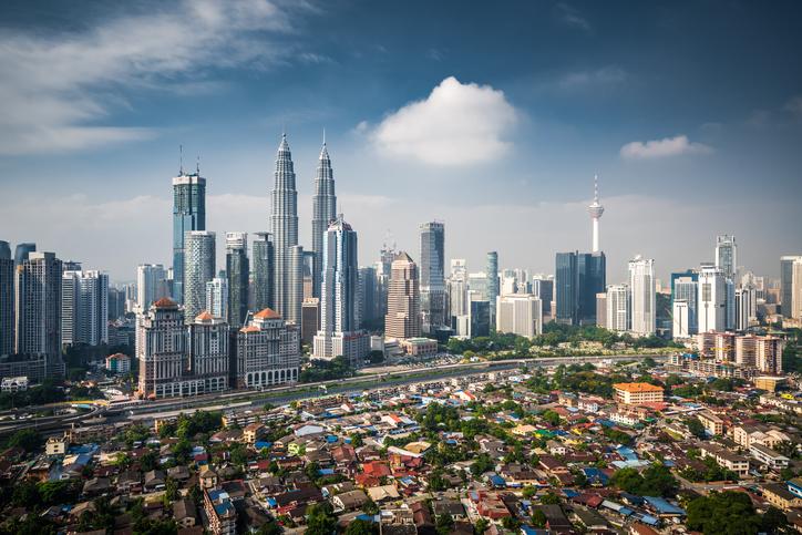 Aerial View Of Kuala Lumpur Skyline