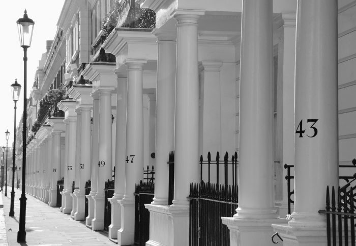 Luxury Apartment Building In London South Kensington, Houses And Streets