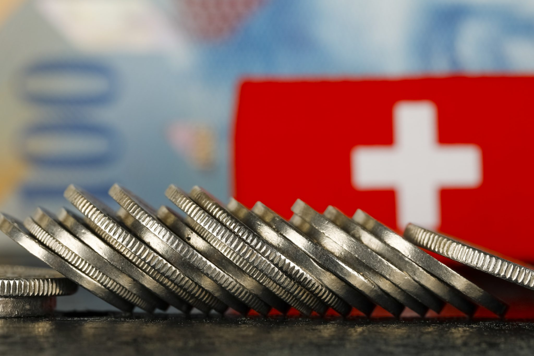 Swiss Money And Flag