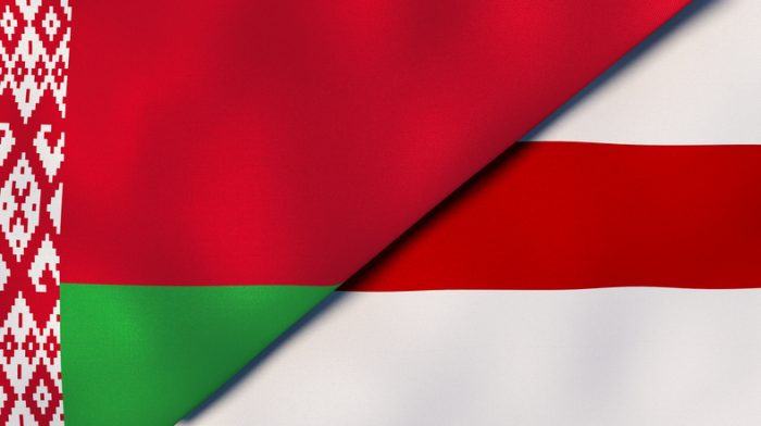 The Two Flags Of Belarus. Official Flag And Flag Of Protesters. Belarus Election