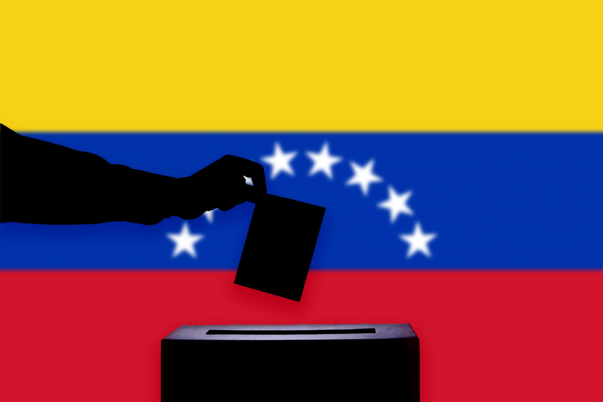 Venezuela Flag With Ballot Box