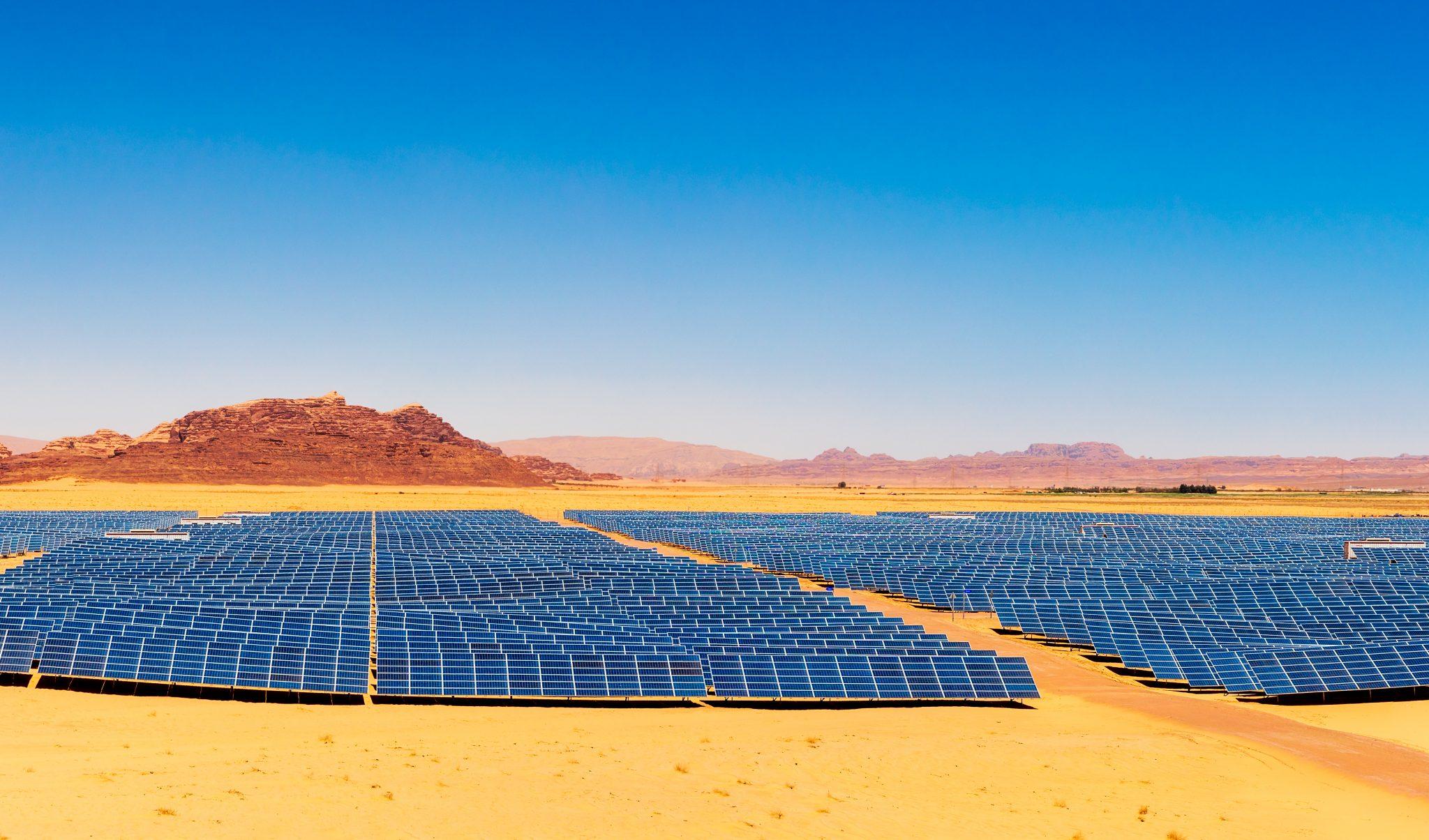 Solar Power Plant In A Desert