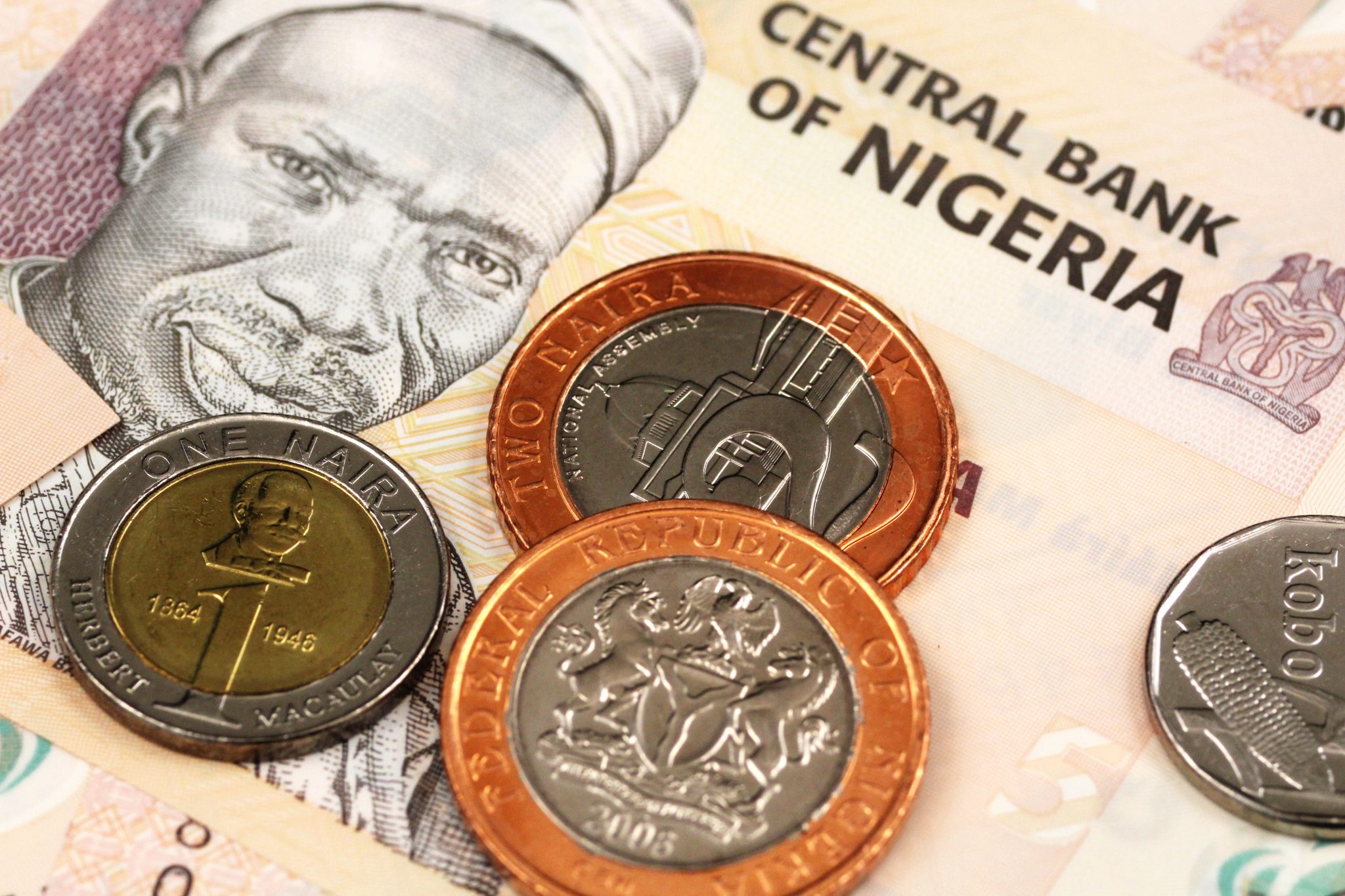 A Close Up Image Of Nigerian Money