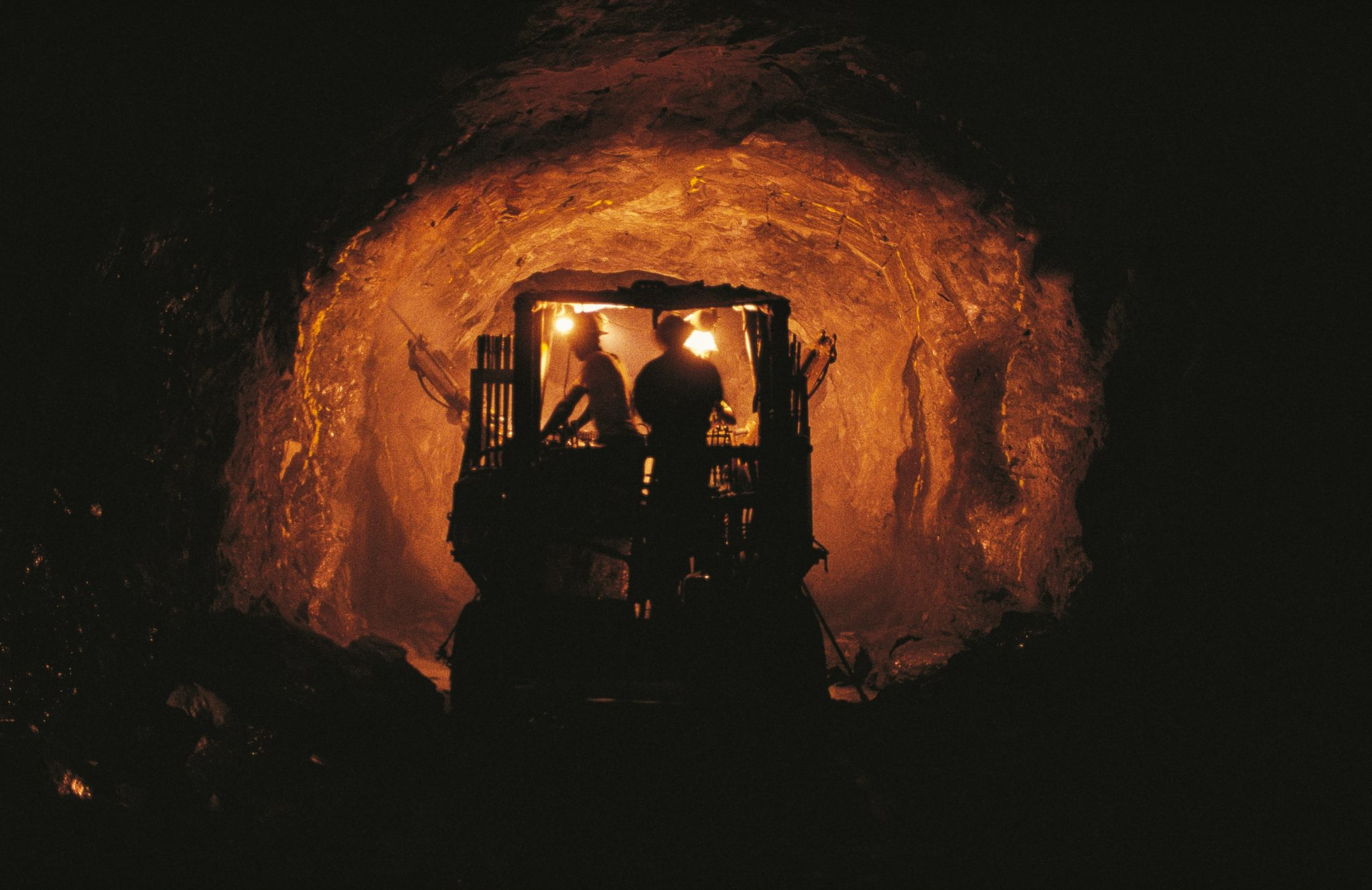 Men At Work In A Kipushi Mine Gallery, Katanga